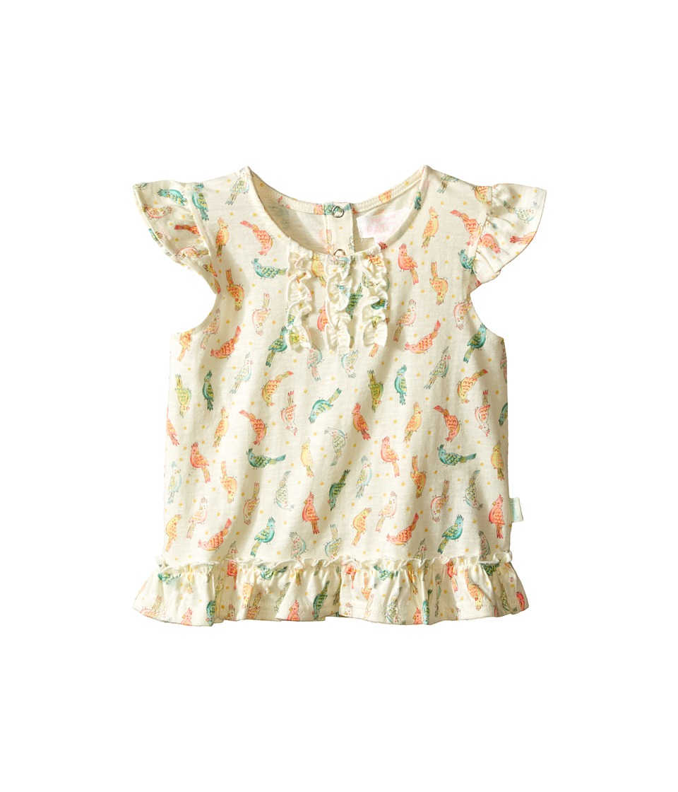 Pumpkin Patch Kids - Birdie Print Frilly Top (Infant) (After Glow) Girl's Blouse