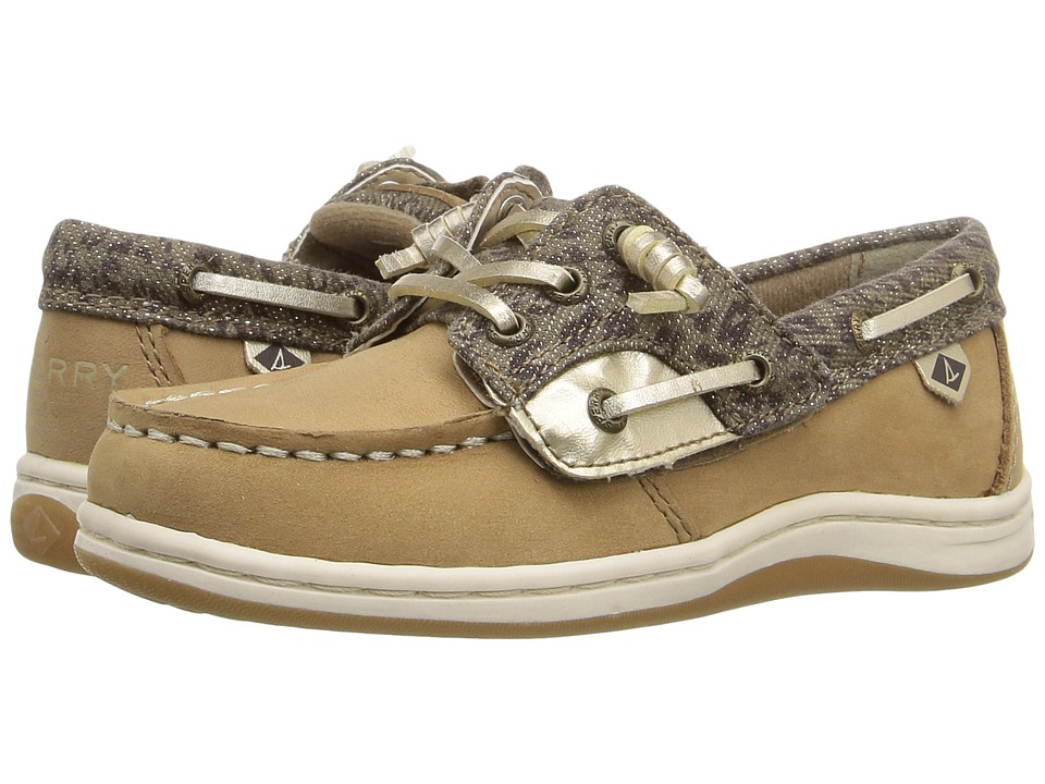 Sperry Kids - Songfish Jr. (Toddler/Little Kid) (Linen/Cheetah) Girl's Shoes