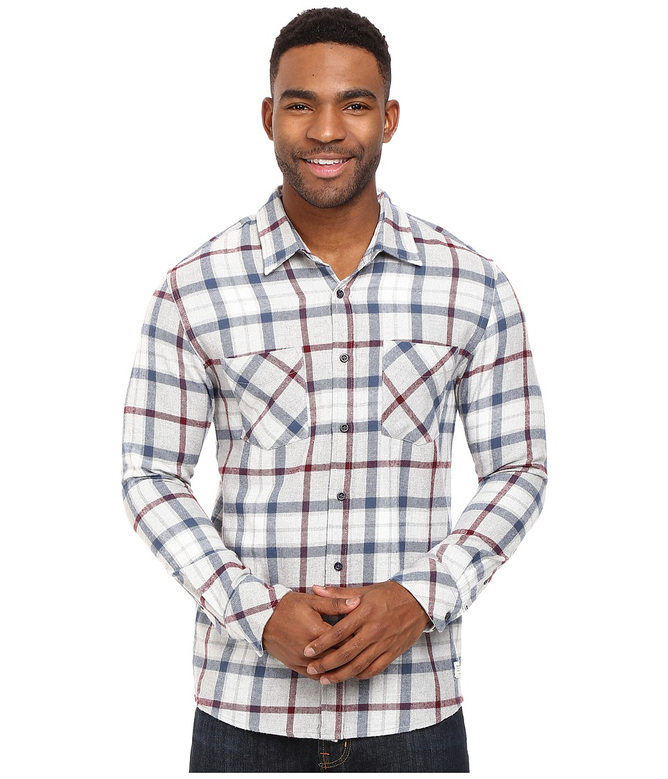 Quiksilver - Fitzthrower Flannel (Light Grey Heather) Men's Clothing