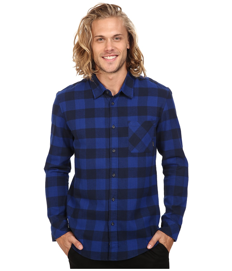 Quiksilver - Motherfly Flannel (Navy Blazer) Men's Clothing