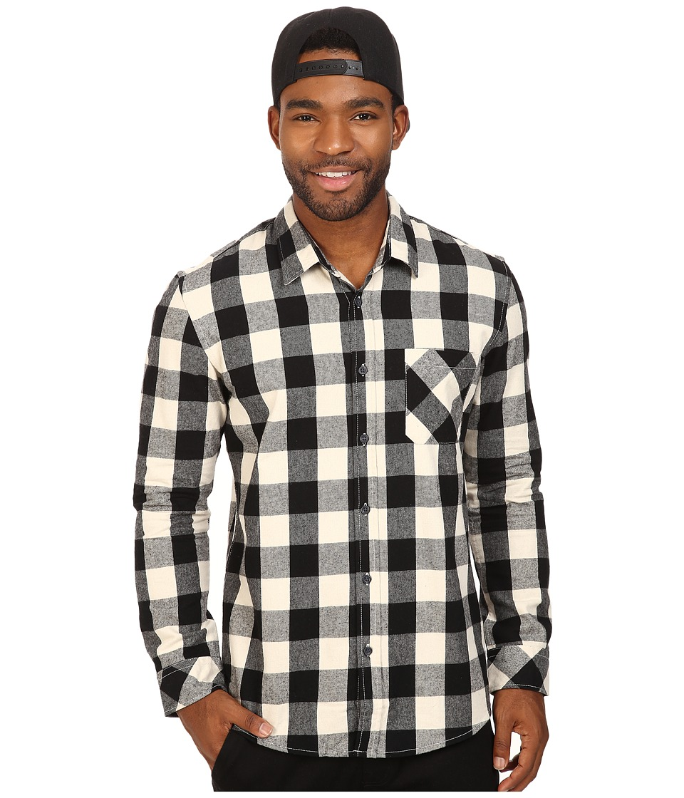 Quiksilver - Motherfly Flannel (Black) Men's Clothing