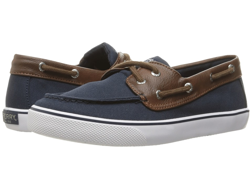 Sperry Kids - Bahama (Little Kid/Big Kid) (Navy/Brown) Boy's Shoes