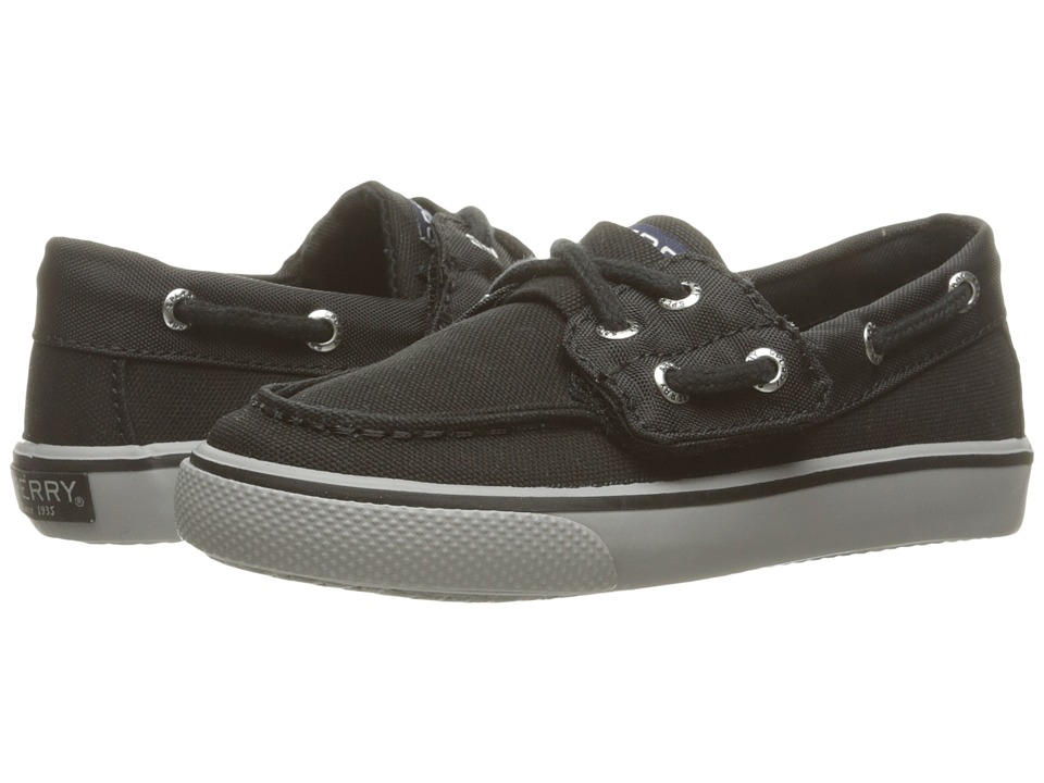 Sperry Kids - Bahama Jr. (Toddler/Little Kid) (Black Nylon) Boy's Shoes