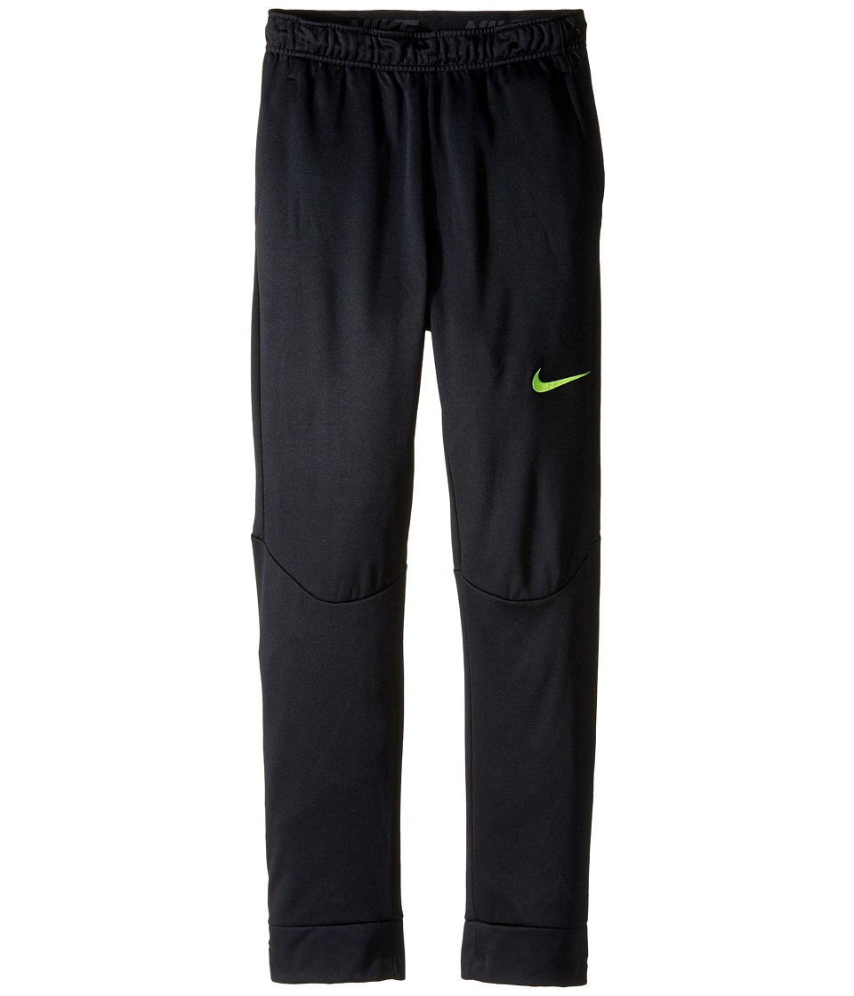 Nike Kids - Therma Tapered Pants (Little Kids/Big Kids) (Black/Volt) Boy's Casual Pants