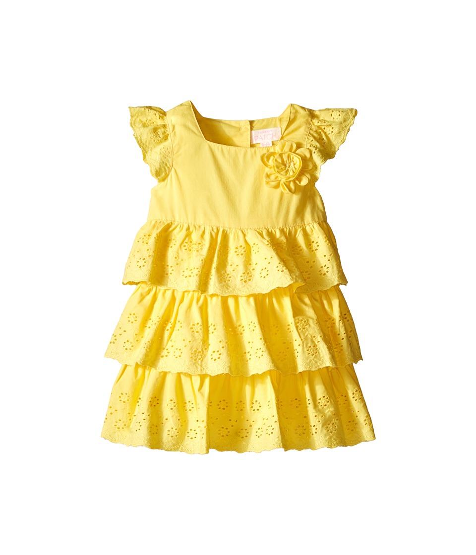 Pumpkin Patch Kids - Tiered Broderie Dress (Infant) (Snap Dragon) Girl's Dress