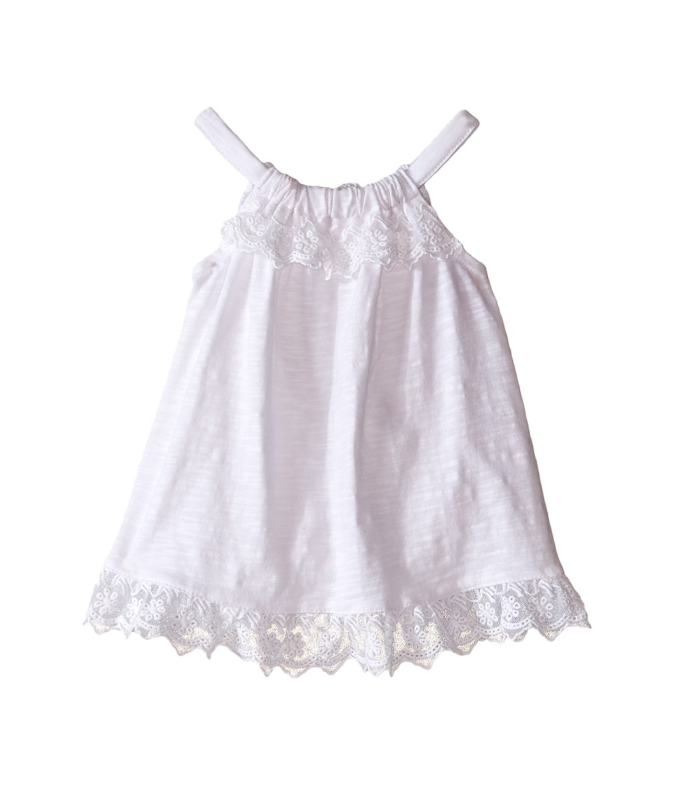 Pumpkin Patch Kids - Curve Back Top (Infant) (Super White) Girl's Sleeveless
