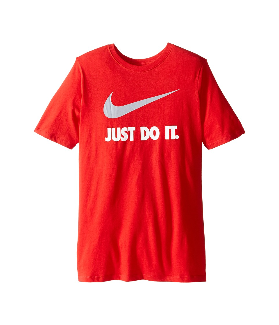 Nike Kids - JDI Swoosh Tee (Little Kids/Big Kids) (University Red/University Red/Wolf Grey) Boy's T Shirt
