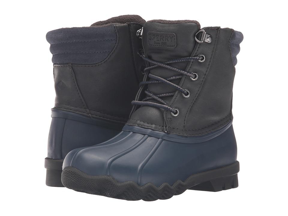 Sperry Kids - Avenue Duck (Little Kid/Big Kid) (Grey/Navy) Boy's Shoes