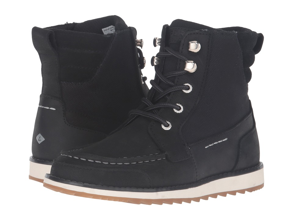 Sperry Kids - Dockyard Boot (Little Kid/Big Kid) (Black) Boys Shoes