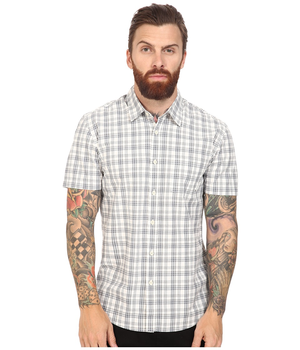 Quiksilver - Everyday Check Short Sleeve Woven (Snow White) Men's Clothing