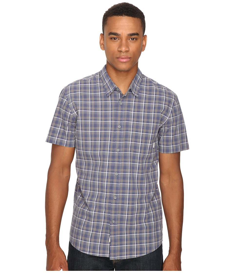 Quiksilver - Everyday Check Short Sleeve Woven (Night Shadow) Men's Clothing