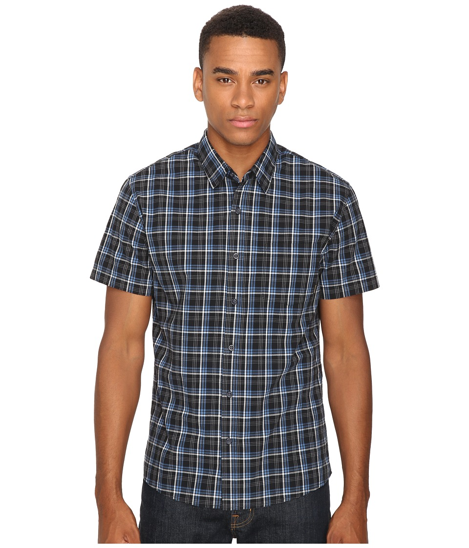 Quiksilver - Everyday Check Short Sleeve Woven (Black) Men's Clothing