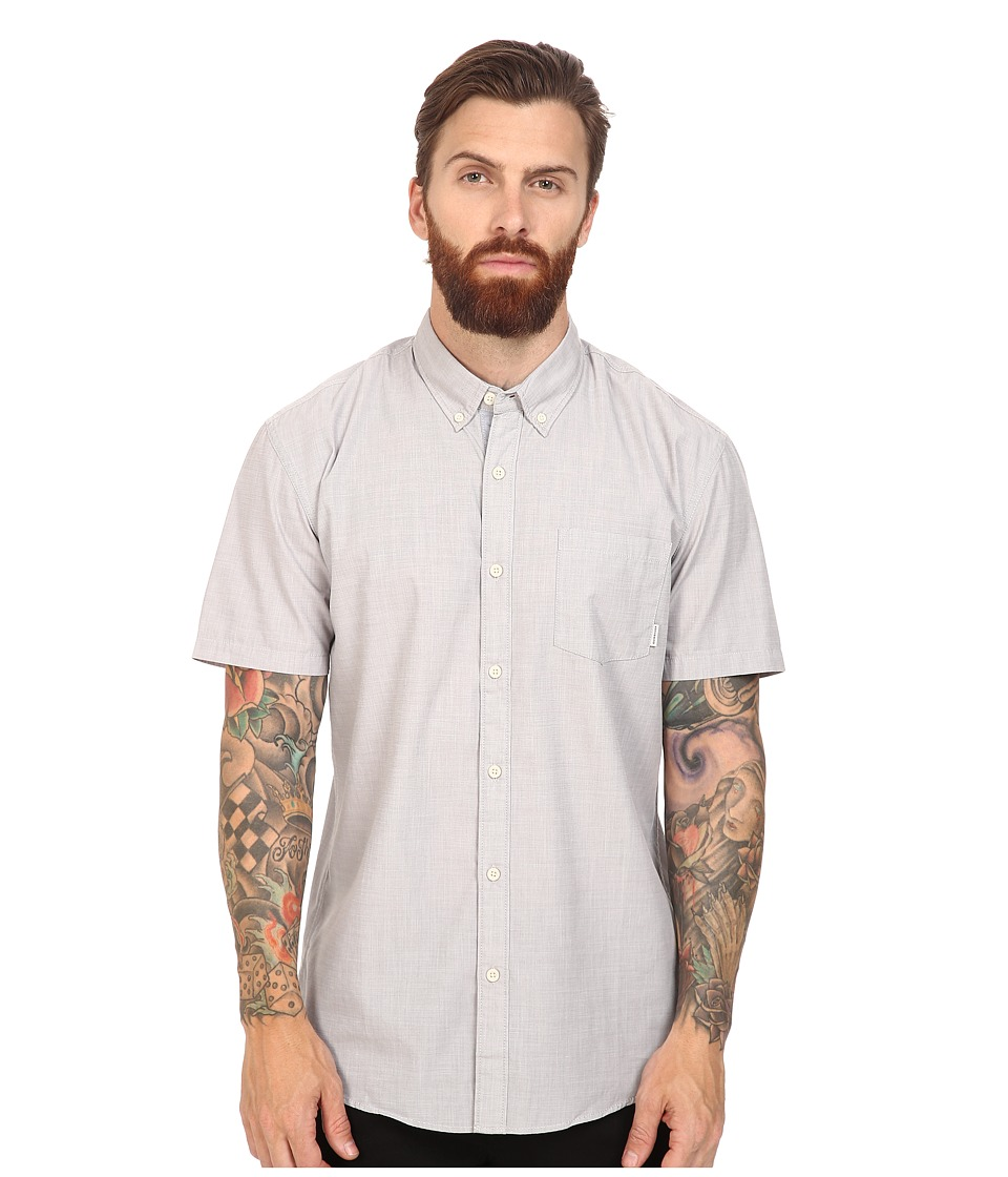Quiksilver - Everyday Wilsden Short Sleeve Woven (Quiet Shade) Men's Clothing