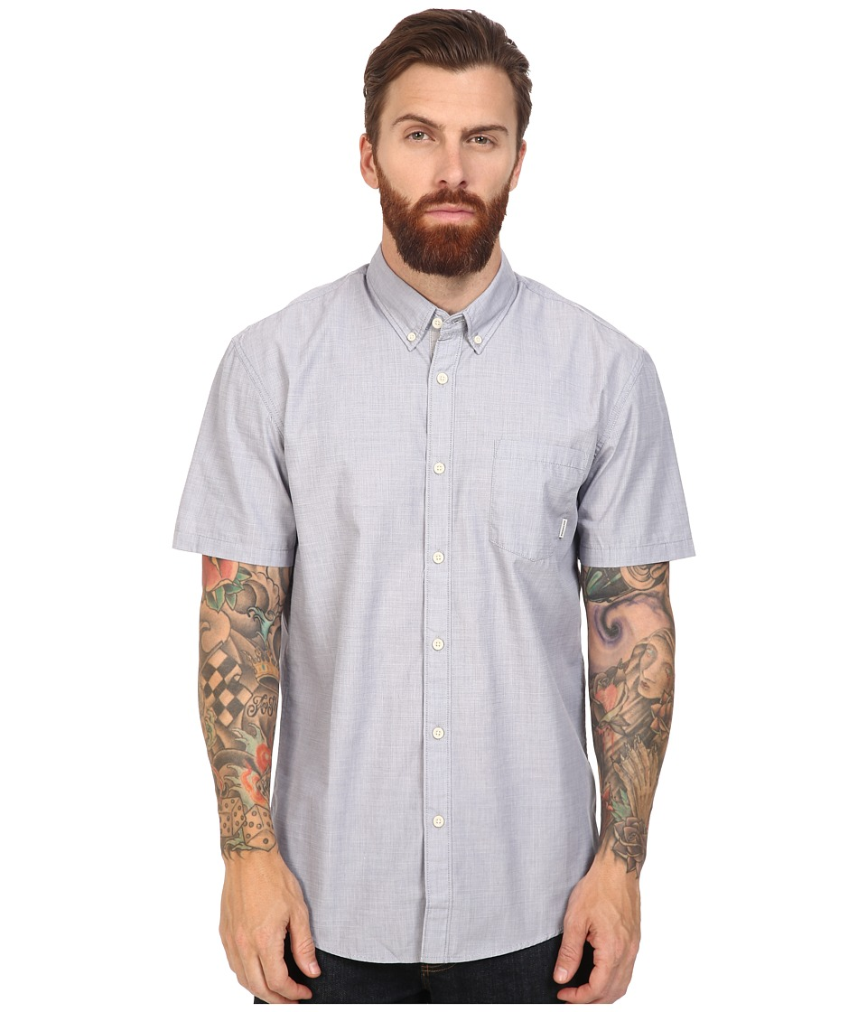 Quiksilver - Everyday Wilsden Short Sleeve Woven (Night Shadow Blue) Men's Clothing