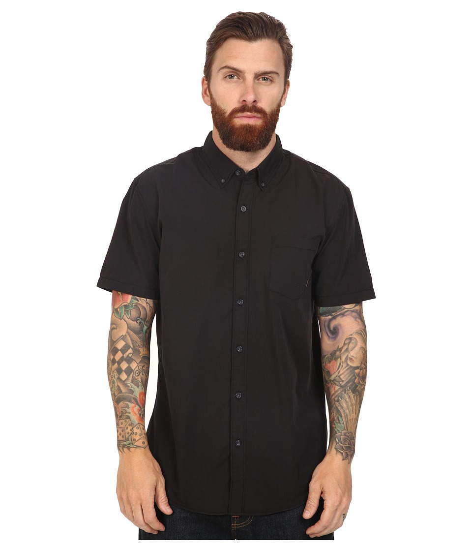 Quiksilver - Everyday Wilsden Short Sleeve Woven (Tarmac) Men's Clothing