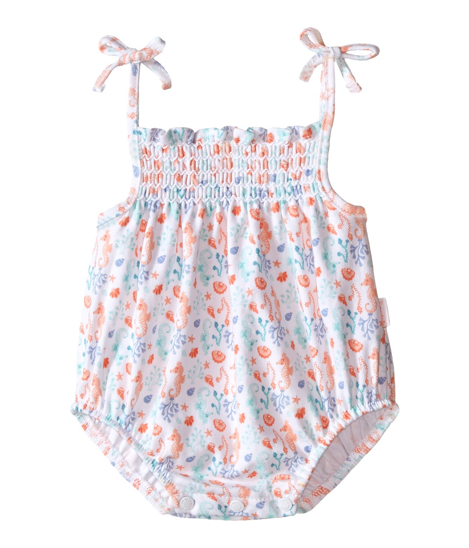 Pumpkin Patch Kids - Shirred Bodysuit (Infant) (Super White) Girl's Jumpsuit & Rompers One Piece