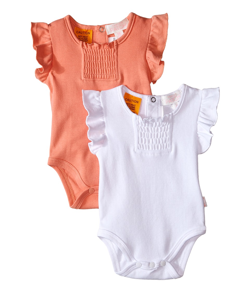 Pumpkin Patch Kids - 2-Pack Bodysuit (Infant) (Desert Flower) Girl's Jumpsuit & Rompers One Piece