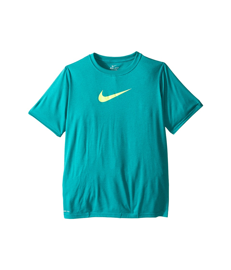 Nike Kids - Essentials Legend S/S Top (Little Kids/Big Kids) (Teal Charge/Volt) Boy's Workout