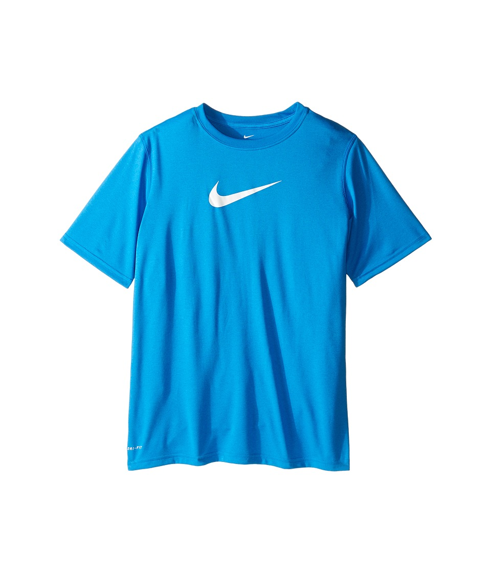 Nike Kids - Essentials Legend S/S Top (Little Kids/Big Kids) (Photo Blue/White) Boy's Workout
