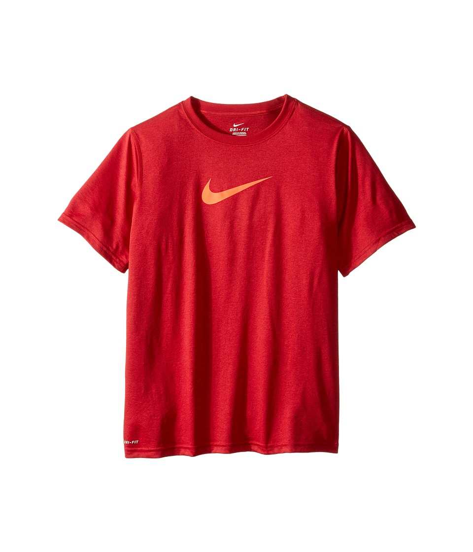 Nike Kids - Essentials Legend S/S Top (Little Kids/Big Kids) (Gym Red/Bright Crimson) Boy's Workout