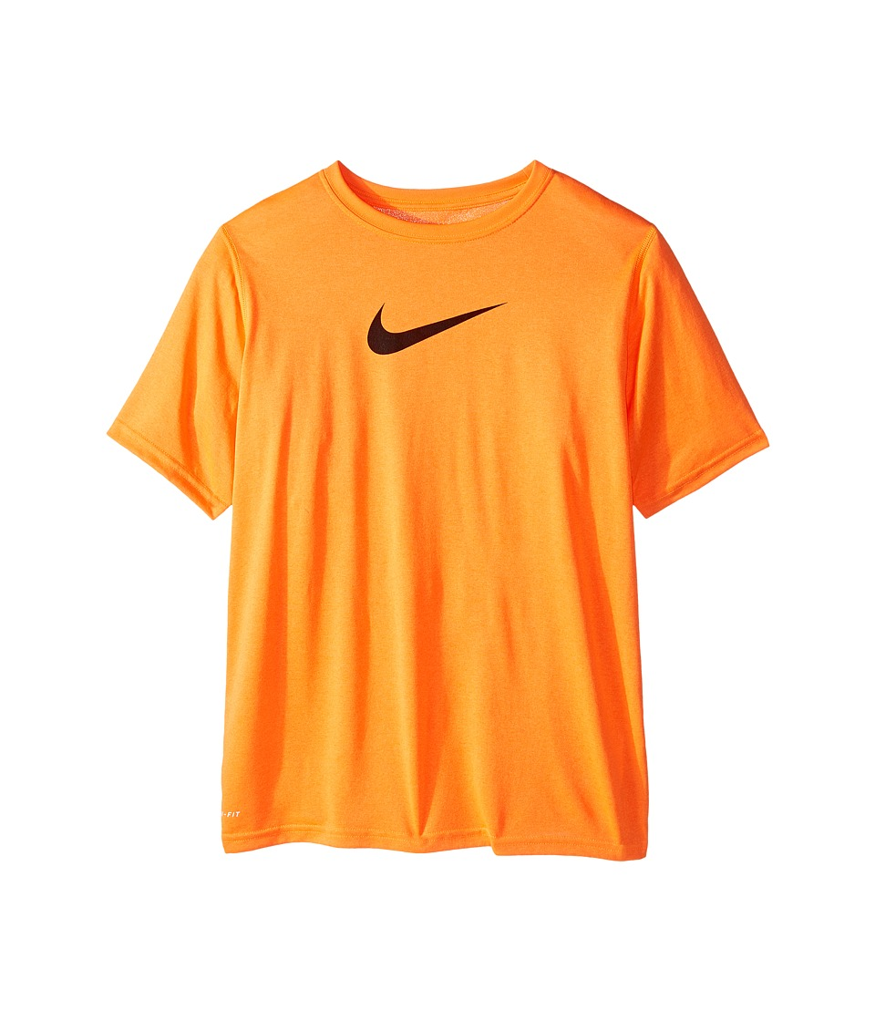 Nike Kids - Essentials Legend S/S Top (Little Kids/Big Kids) (Total Orange/Black) Boy's Workout