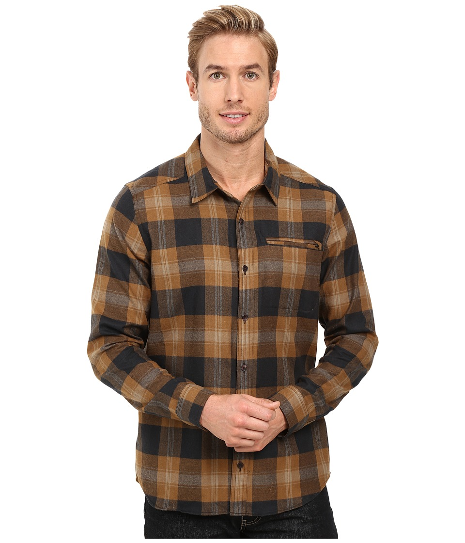 Toad&Co - Wainwright Long Sleeve Shirt (Seal Brown) Men's Clothing
