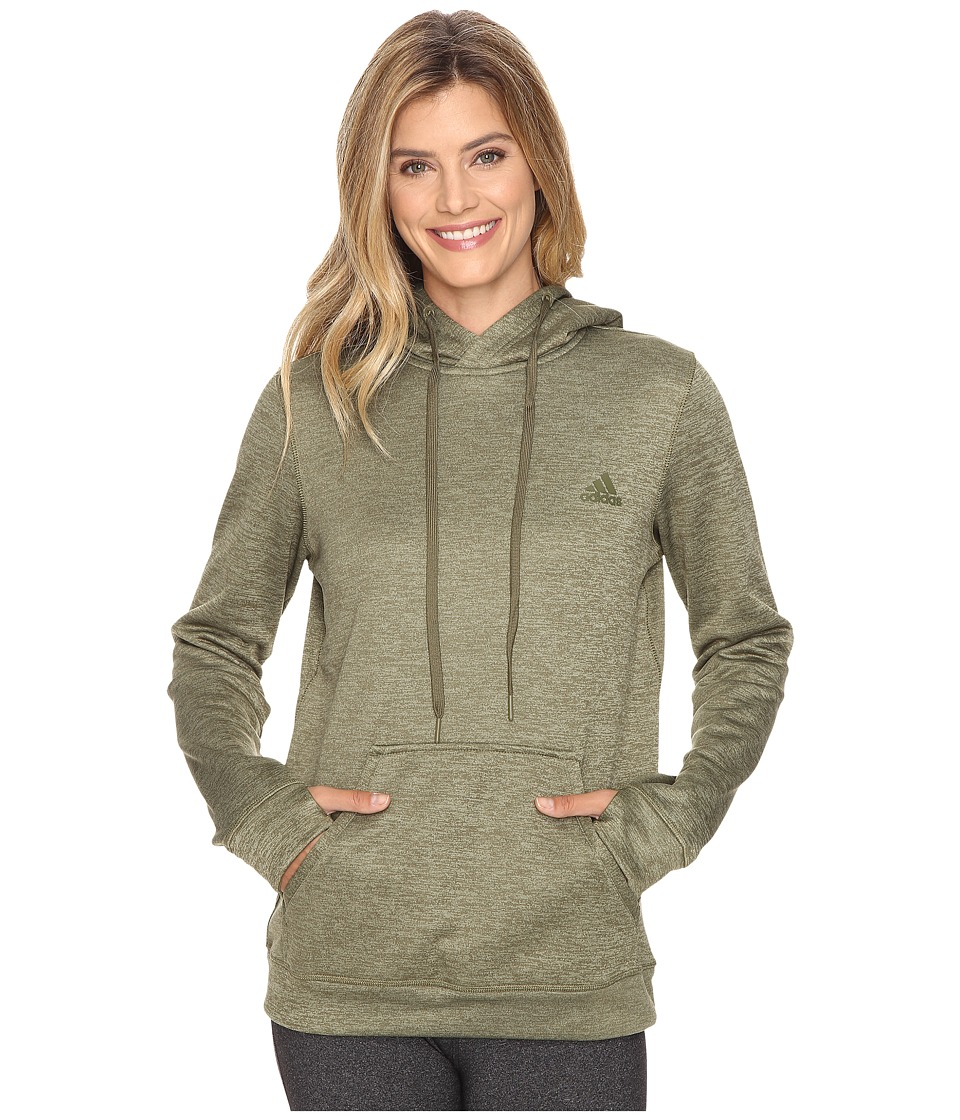 adidas Team Issue Fleece Pullover Hoodie (Dark Grey Heather) Women