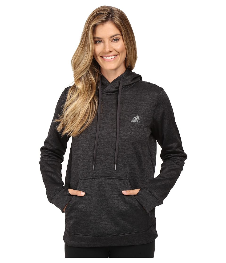 adidas - Team Issue Fleece Pullover Hoodie (Utility Black Heather) Women's Sweatshirt