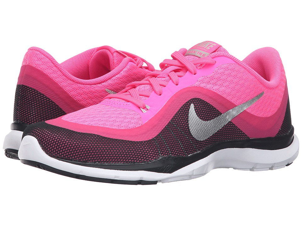 Nike - Flex Trainer 6 (Pink Blast/Vivid Pink/Black/Metallic Silver) Women's Cross Training Shoes