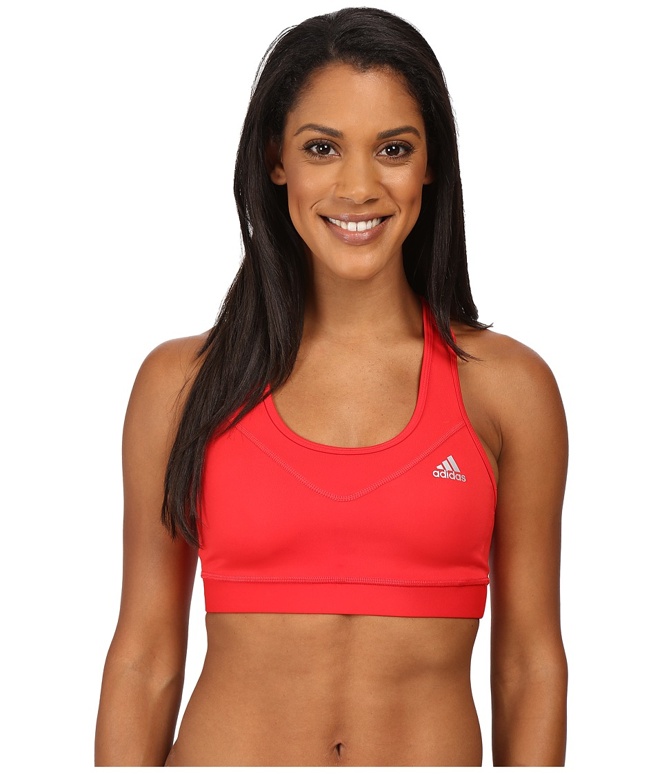 adidas - Techfit Bra (Ray Red/Matte Silver) Women's Bra