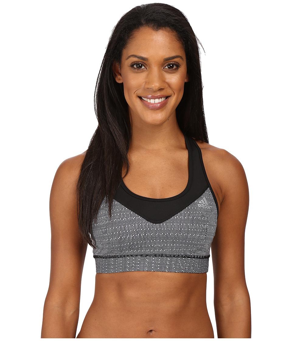 adidas - Techfit Bra - Pixel Glitch (Black/White Print/Matte Silver) Women's Bra