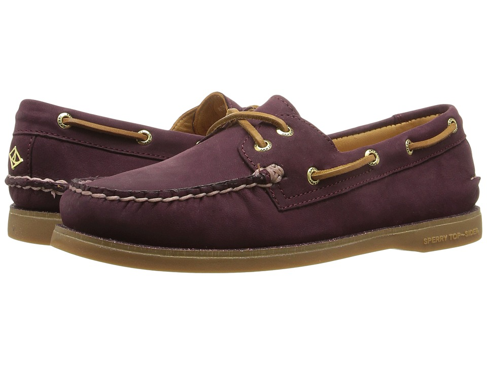 Sperry Top-Sider - Gold Cup A/O Seasonal (Maroon/Glitter) Women's Lace up casual Shoes