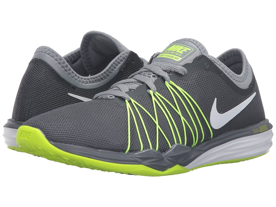 Nike - Dual Fusion TR Hit (Dark Grey/Stealth/Volt/White) Women's Shoes