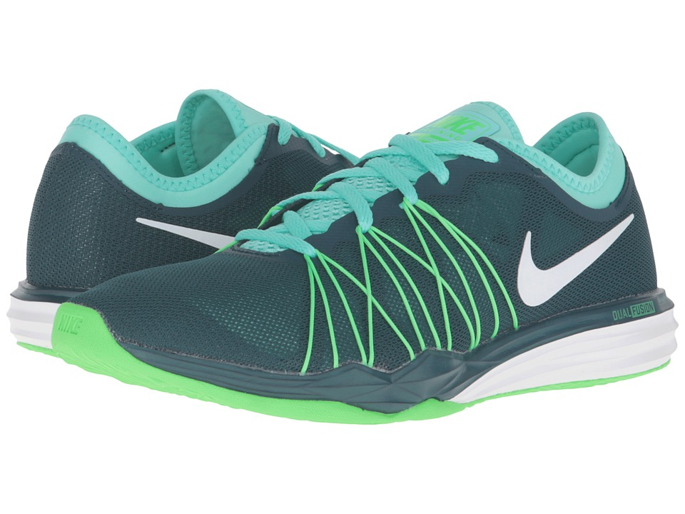 Nike - Dual Fusion TR Hit (Midnight Turquoise/Hyper Turquoise/Rage Green/White) Women's Shoes