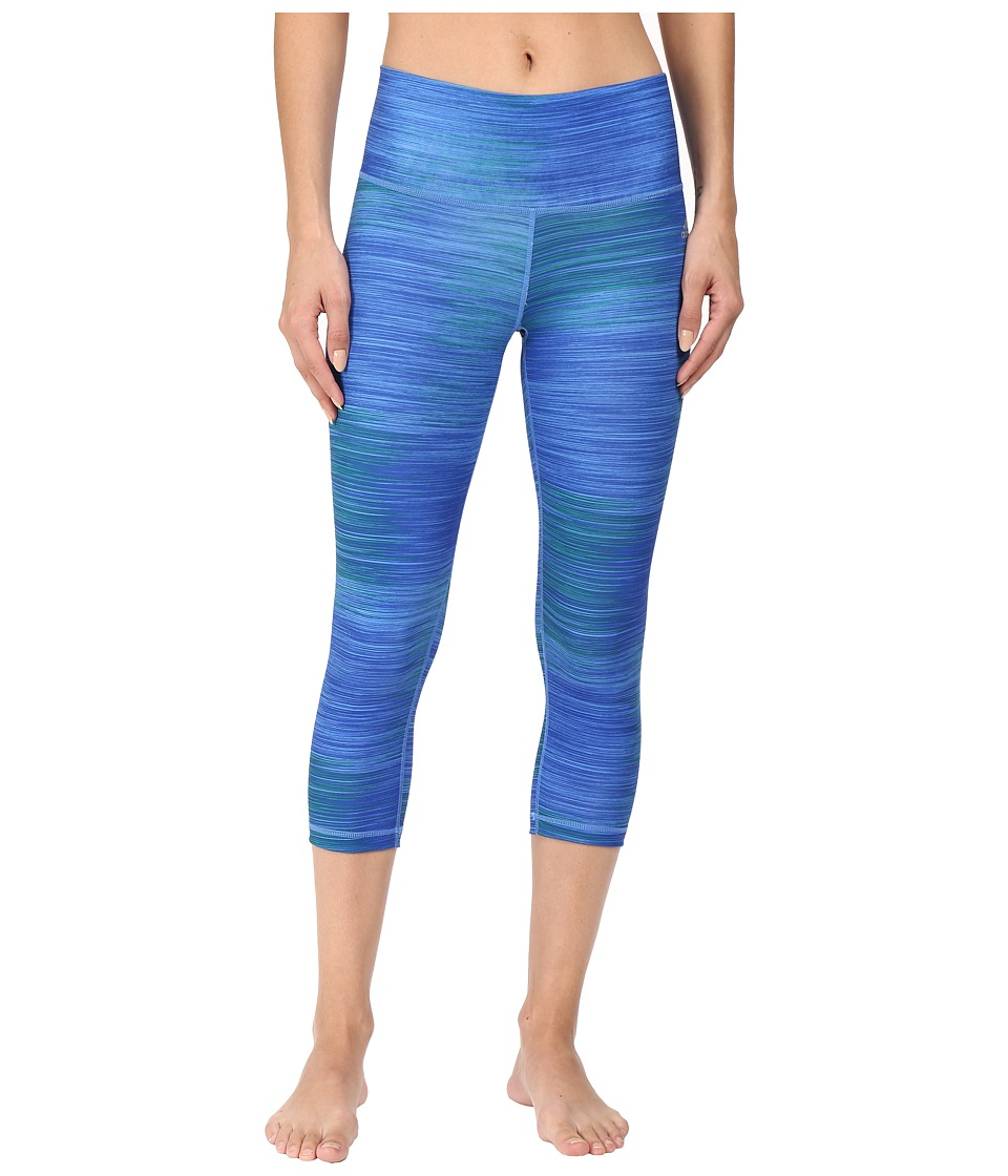 adidas - Performer Mid-Rise 3/4 Tights (Bold Blue Print/Matte Silver) Women's Workout