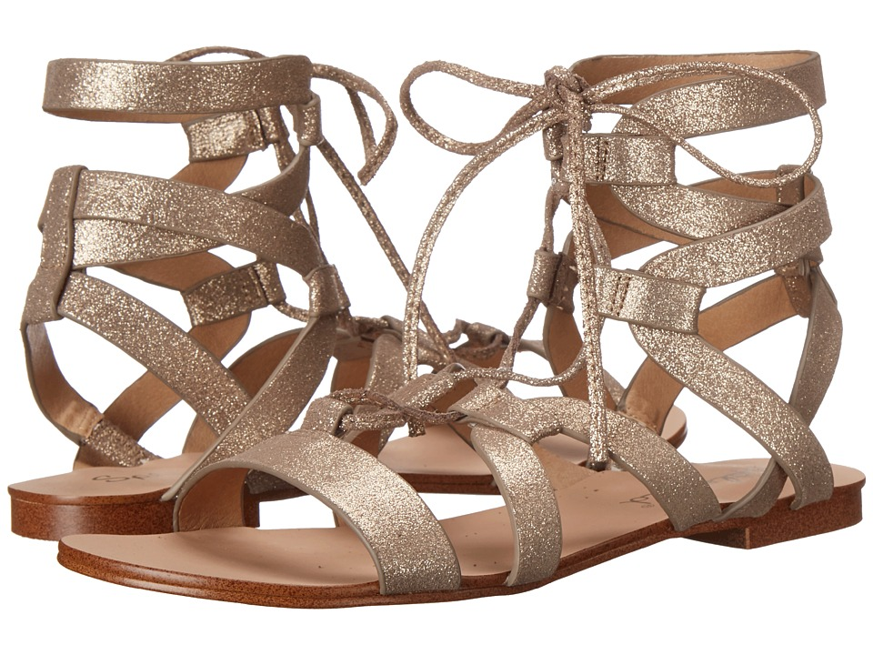 Splendid Cameron Champ Metallic Crack Suede Sandals