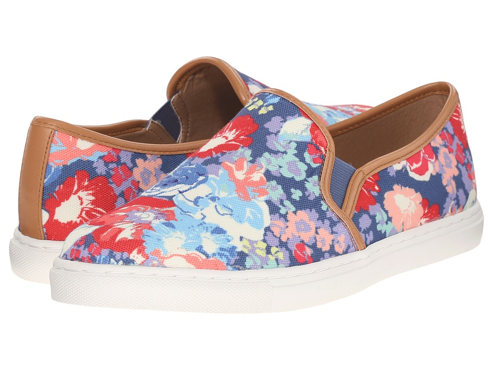 Splendid - Seaside (Blue Floral Canvas) Women's Shoes