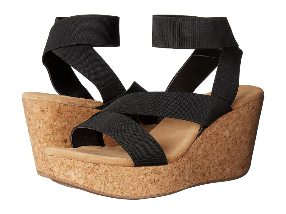 Splendid - Gavin (Black Elastic) Women's Wedge Shoes