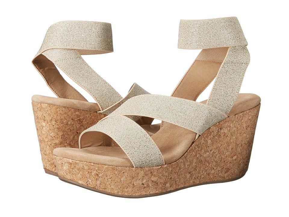 Splendid - Gavin (Gold Elastic) Women's Wedge Shoes