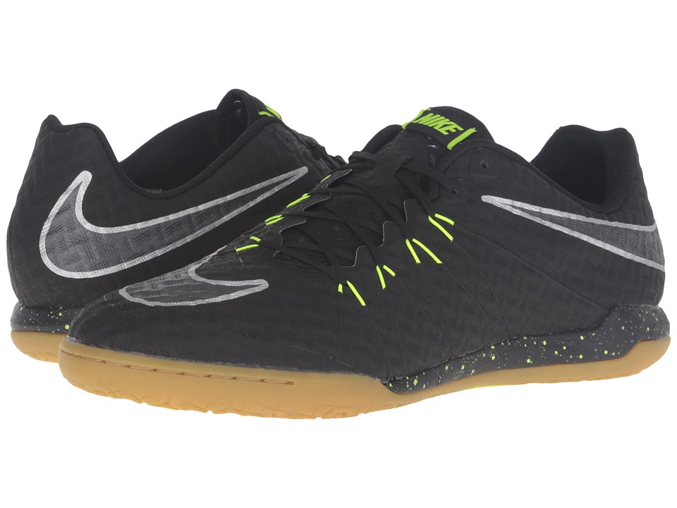Nike - Hypervenomx Finale IC (Black/Volt/Gum Light Brown/Black) Men's Soccer Shoes