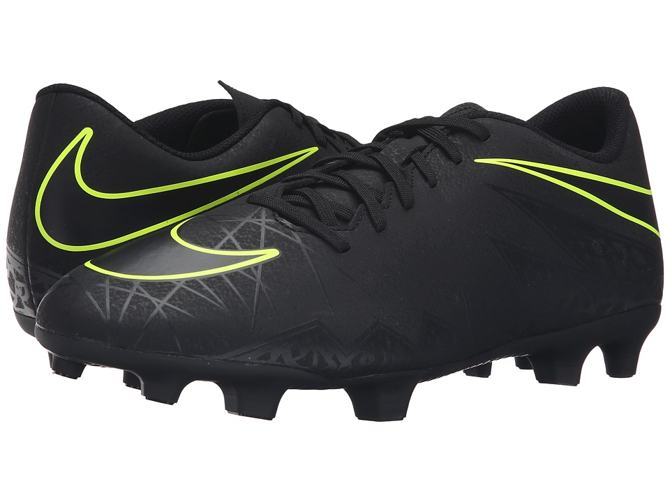Nike - Hypervenom Phade II FG (Black/Black) Men's Soccer Shoes