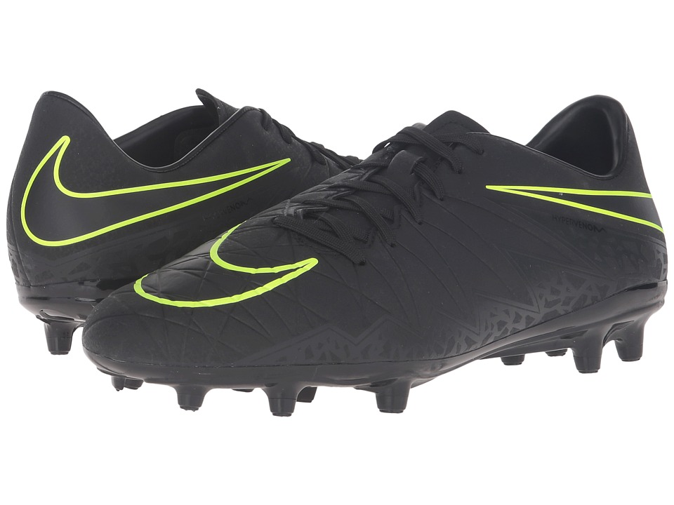 Nike - Hypervenom Phelon II FG (Black/Black) Men's Soccer Shoes