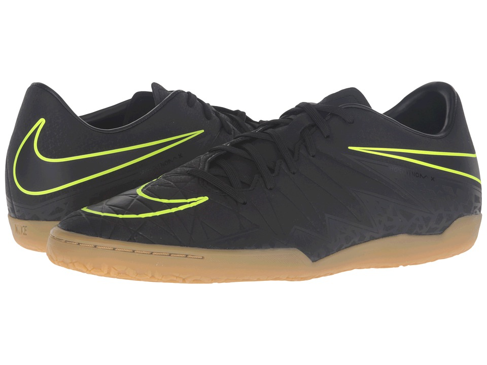 Nike - Hypervenom Phelon II IC (Black/Black) Men's Soccer Shoes