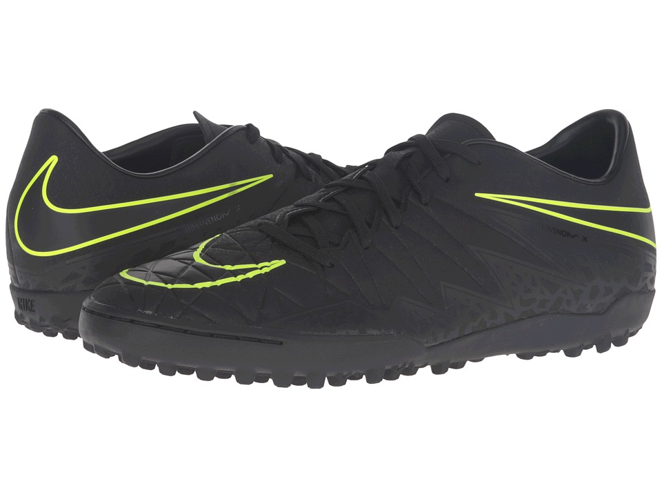 Nike - Hypervenom Phelon II TF (Black/Black) Men's Soccer Shoes