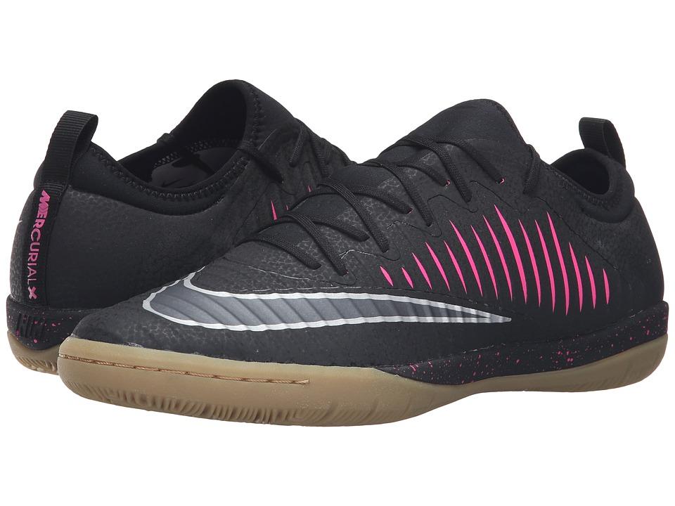 Nike - MercurialX Finale II IC (Black/Pink Blast/Gum Light Brown/Black) Men's Soccer Shoes