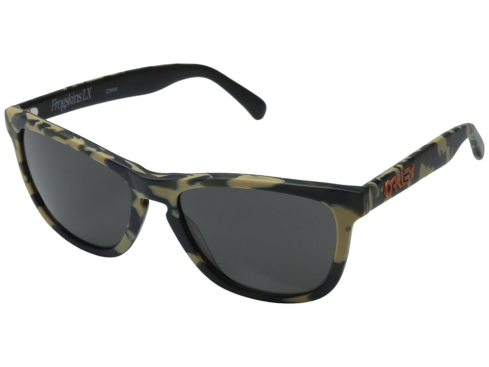 Oakley - Koston Frogskins (Matte Camo w/ Dark Grey) Sport Sunglasses