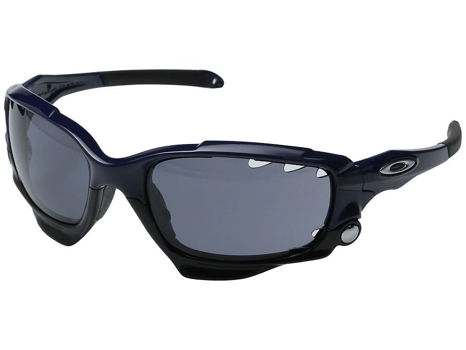 Oakley - MPH Racing Jacket (Polarized Navy w/ Grey) Sport Sunglasses