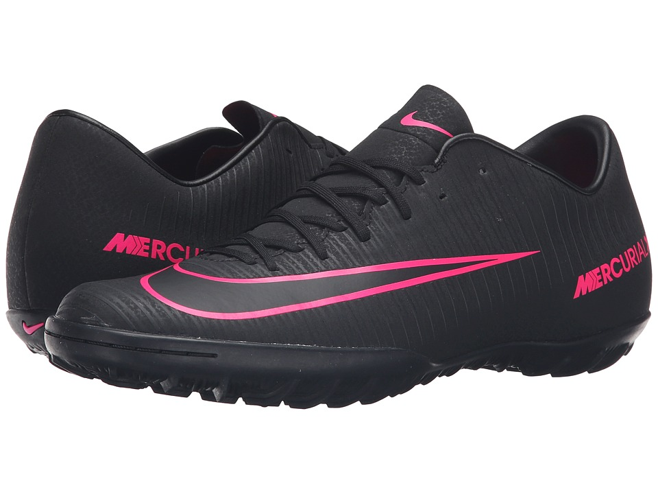 Nike - Mercurial Victory VI TF (Black/Black) Men's Soccer Shoes