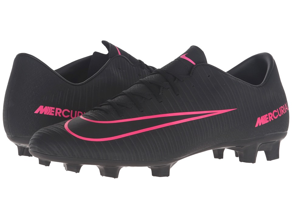 Nike - Mercurial Victory VI FG (Black/Black) Men's Soccer Shoes
