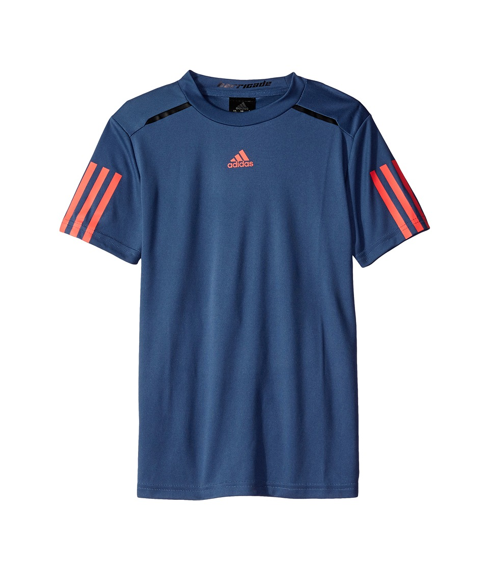 adidas Kids - BARRICADE Tee (Little Kids/Big Kids) (Tech Ink/Flash Red) Boy's T Shirt